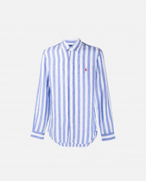 Shirt with embroidered logo