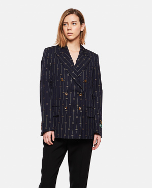 GG retro embroidered blazer