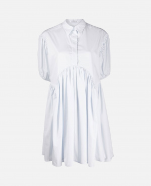Blouse with white puff sleeves