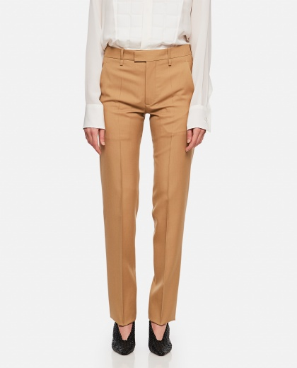 Straight-cut tailored trousers