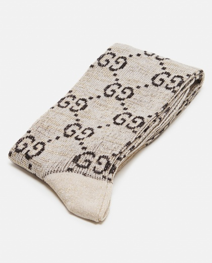 Socks with GG in lamé
