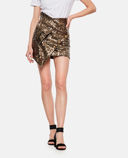 Asymmetrical skirt with sequins