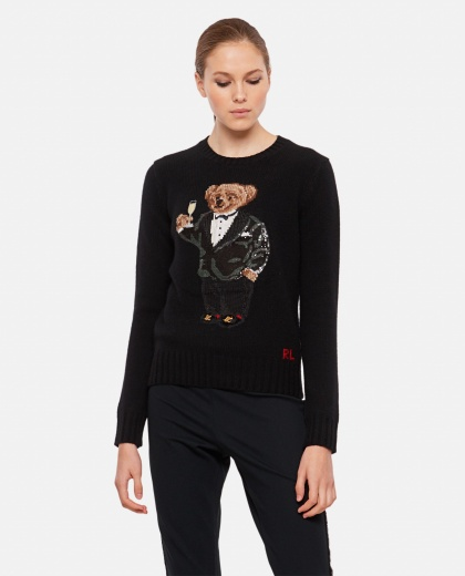 Polo Bear sweater with decoration