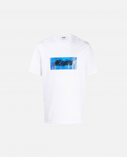 T-shirt with MSGM logo