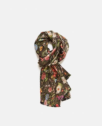 Silk Scarf With Floral Print