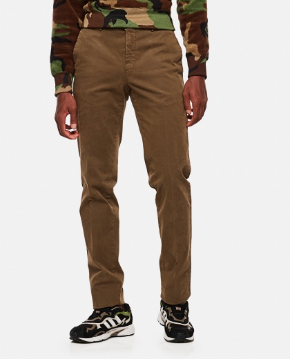 Chino slim cotton trousers