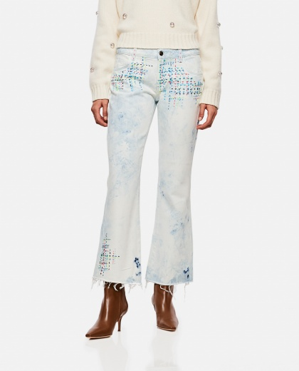 Jeans with multicolor embroidery