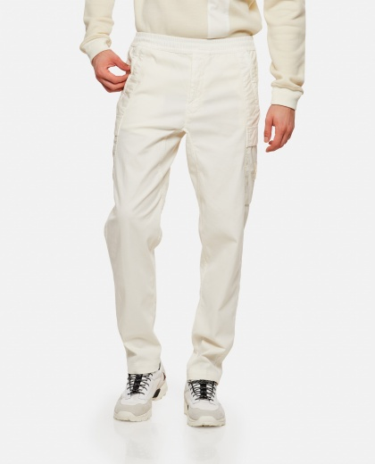 Long cotton blend trousers