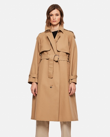 Serenity trench coat with trekking drawstring