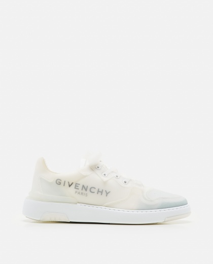 Transparent lace-up low sneakers