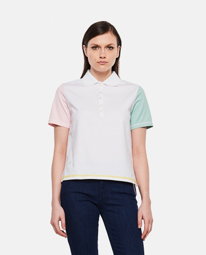Polo shirt with contrasting sleeves