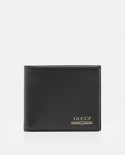 Leather Wallet With Gucci Logo