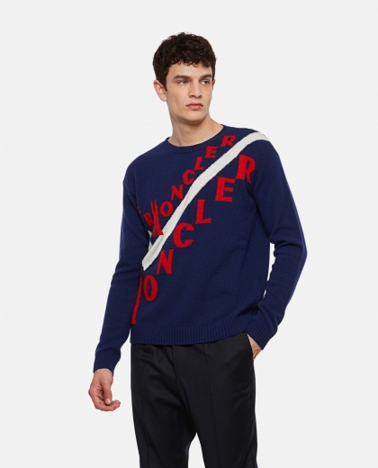 Sweater with Moncler logo