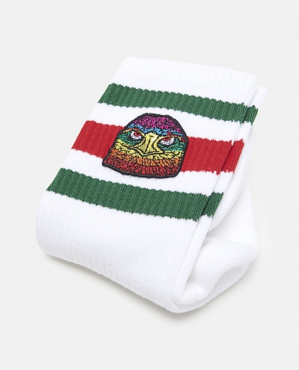 Socks With Eagle Face Patch