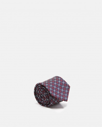 Gg Diamond Silk Tie