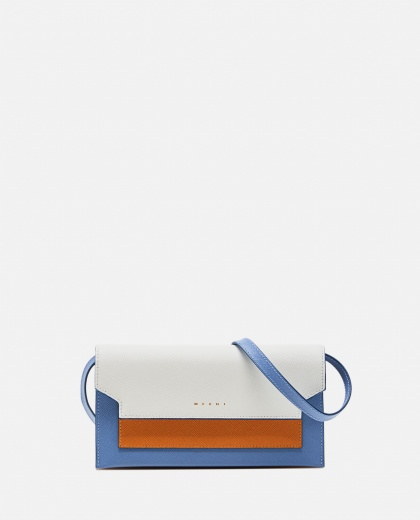 Bellows mini bag with shoulder strap