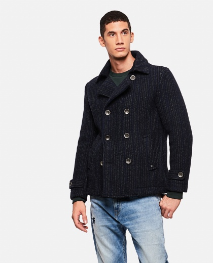 Double-breasted striped jacket