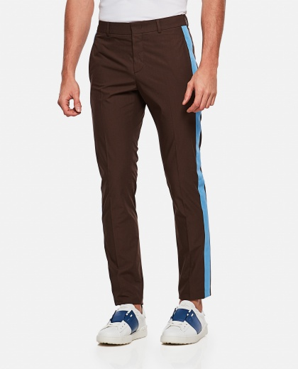 Cotton Pants with contrasting  panel