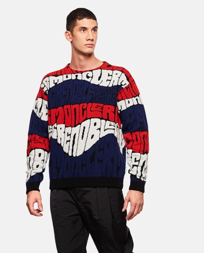 Jacquard lettering sweater
