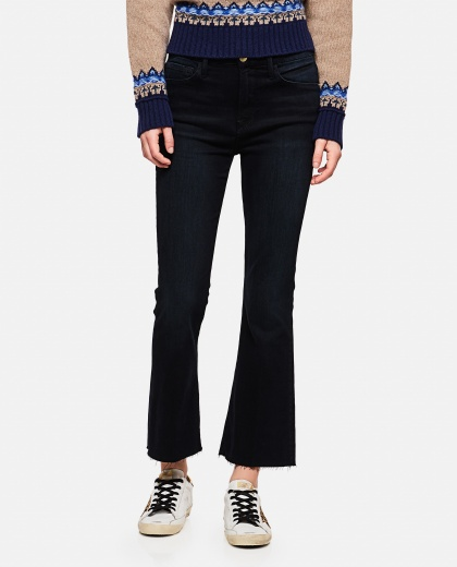 High-waisted  crop jeans