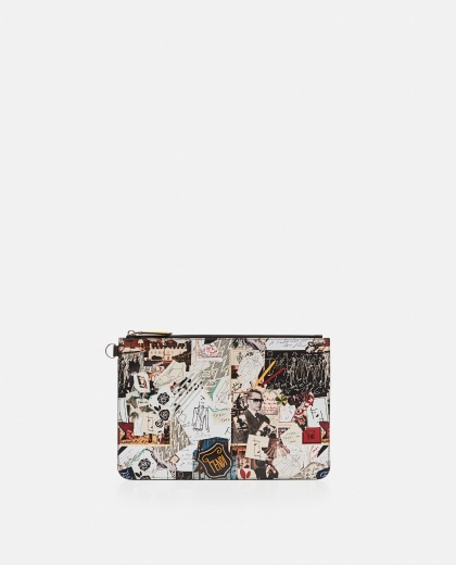 Pouch with Karl Kollage print