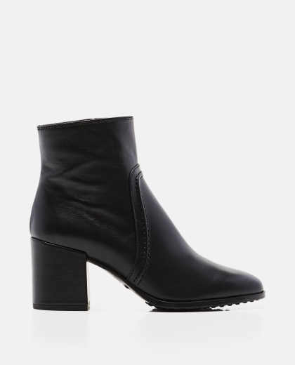 Smooth leather ankle boot