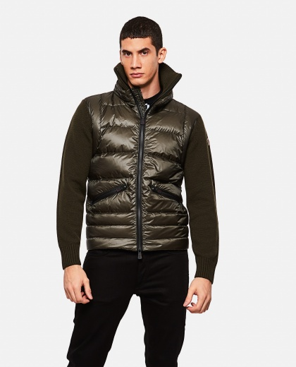 Down jacket with high neck