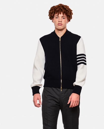 Bomber with wool stripe