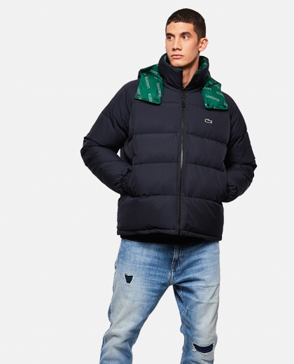 Padded double face jacket with Lacoste LIVE printed lining