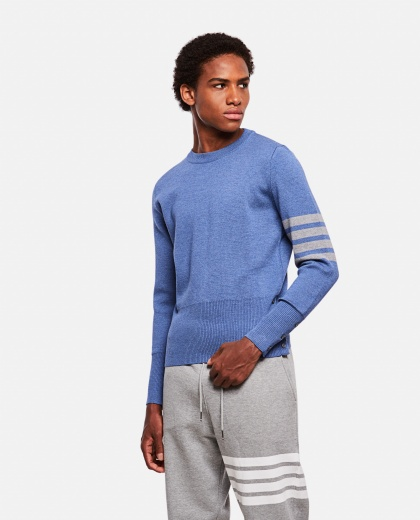 Milano sweater with striped detail
