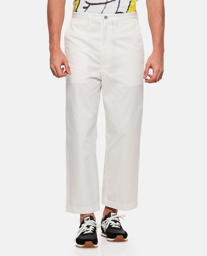 Trousers with low waist