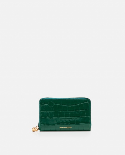Wallet with crocodile effect