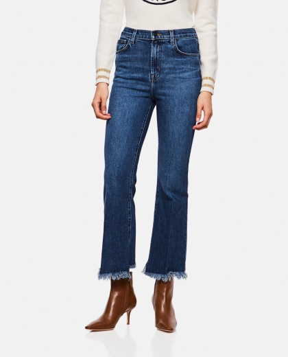 Long stretch cotton jeans