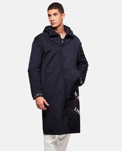 Parka with print