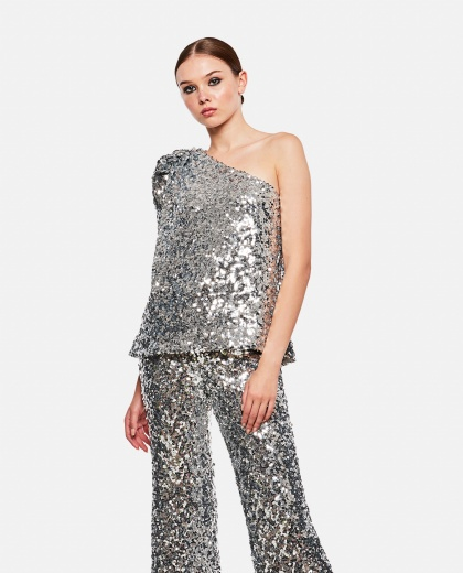 One Shoulder Top With Sequins