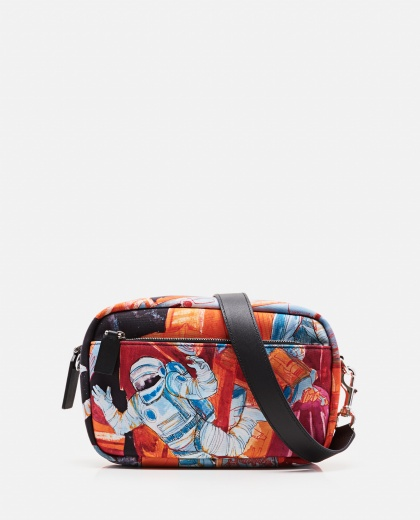 Shoulder bag with Spaceman print