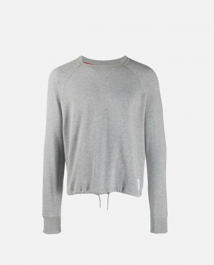 Sweatshirt with drawstring waist