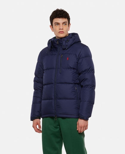 Down jacket with embroidery