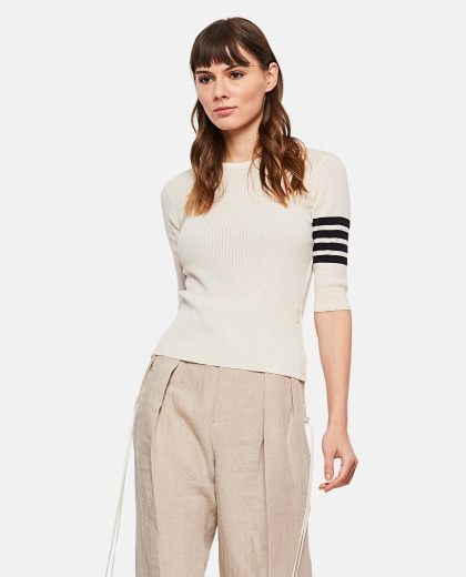 Sweater with striped detail