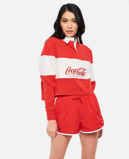 Tommy X Coca Cola Crop Rugby Shirt