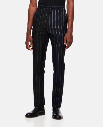 Slim striped trousers