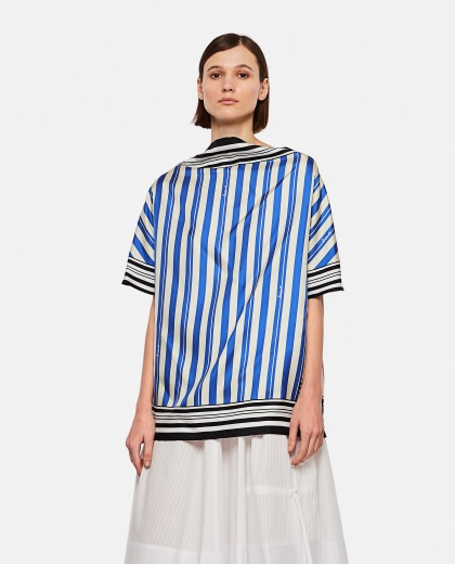 Top with striped print