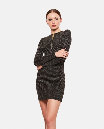 Tight fitting long sleeved dress