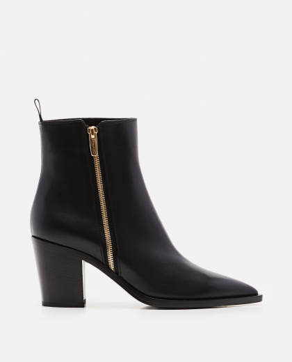 High pointed toe in smooth leather