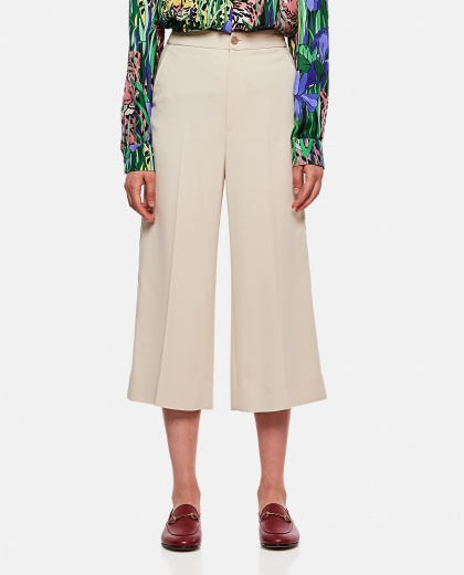 Viscose culotte trousers with web tape
