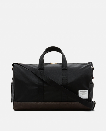 Unstructured Holdall In Nylon And Suede
