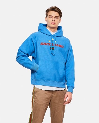 Sweatshirt with hood and Gucci Band print