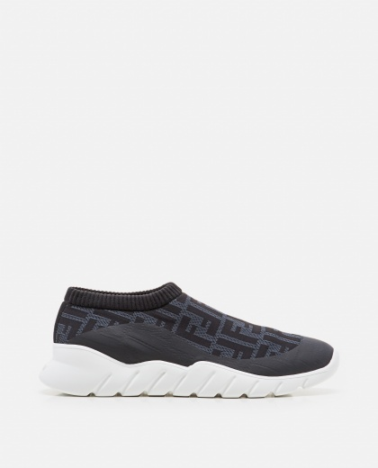 Low-top technical fabric sneakers