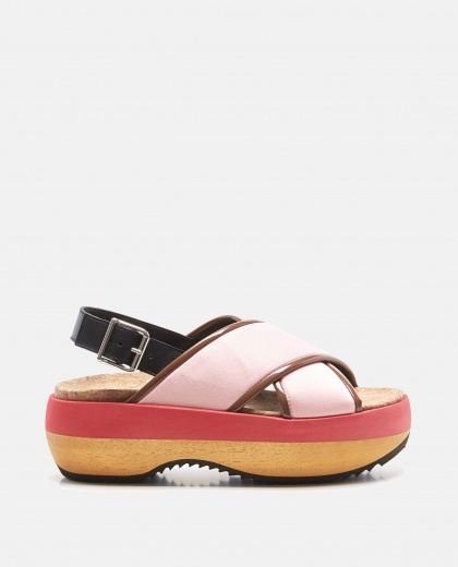 Criss Cross Wedge In Nappa