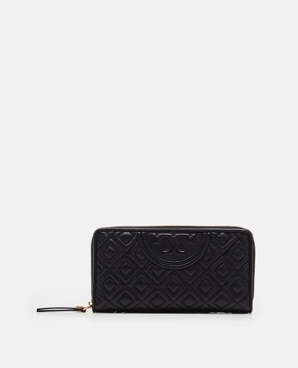 Fleming black leather wallet